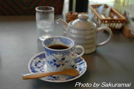 蕎麦の後のコーヒー