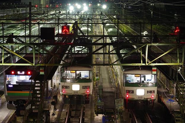 深夜の電車区