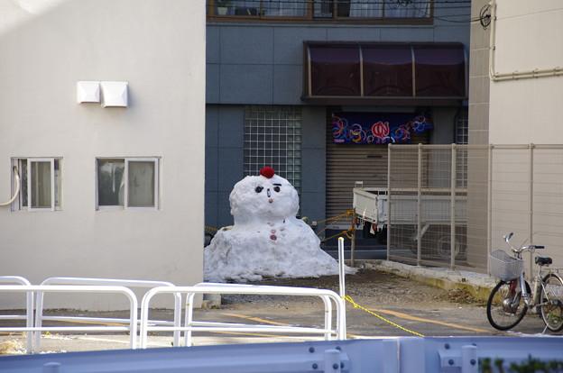 牛込柳町の雪だるま