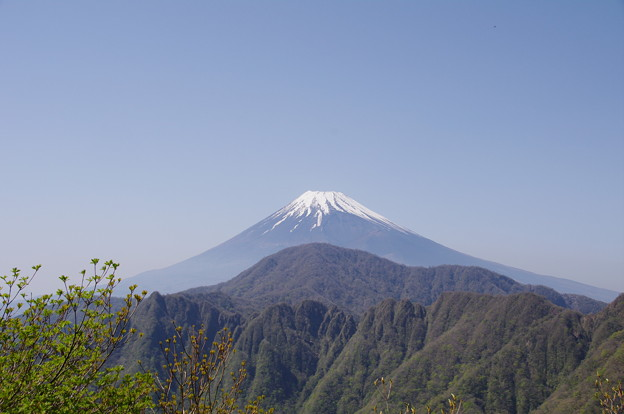 富士山と鋸山