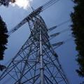 写真: 尾根の鉄塔