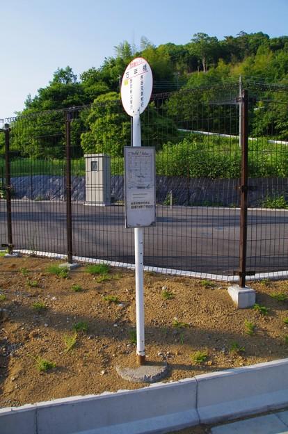 西武観光バスの万年橋バス停