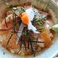 写真: 貝殻亭の真鯛づけ丼