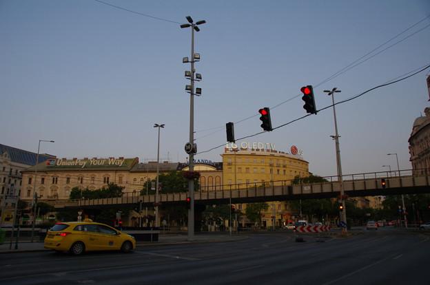 ブダペスト西駅前