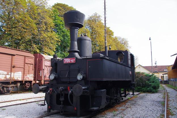 技術博物館の機関車
