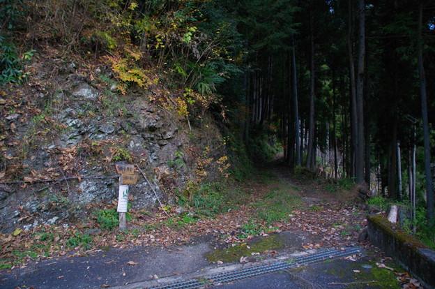 上坂の登山口