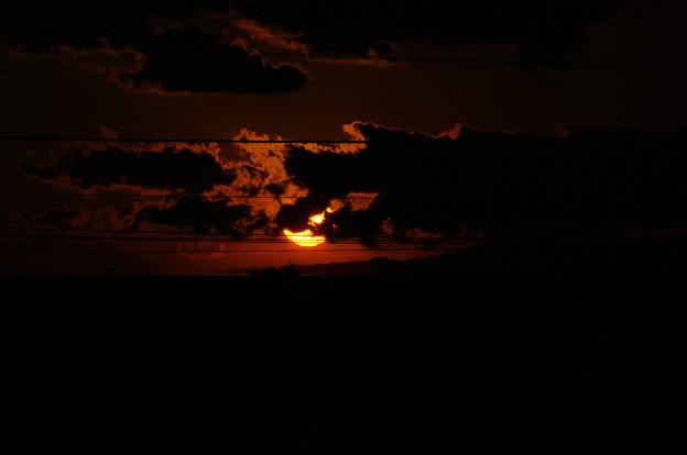 鋸南町の夕日