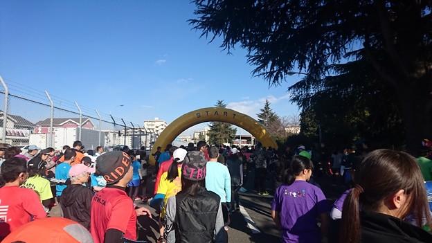 横田基地のマラソン