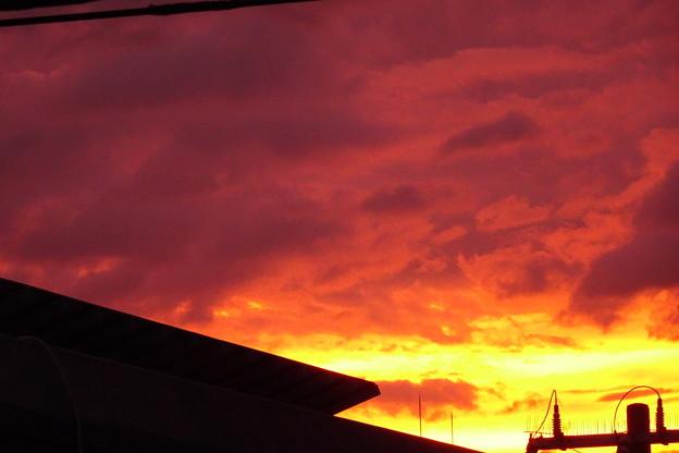 台風前夕焼け