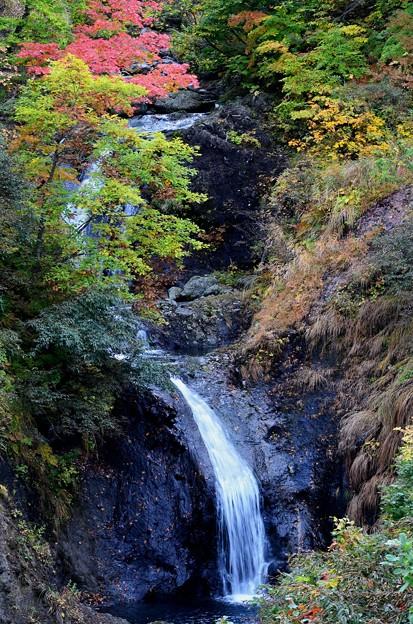 少し紅葉滝
