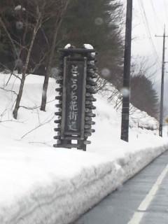 戸河内雪景色