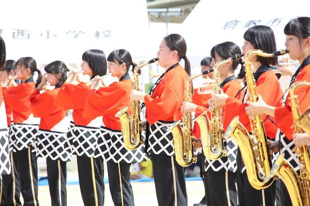倉敷西小学校運動会演奏_047