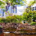 写真: 都会の泉