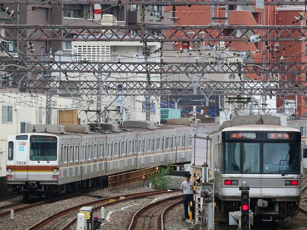 中目黒駅にて