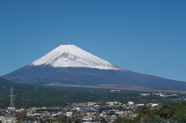 写真: 雪化粧の富士山-01