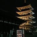興福寺:奈良燈火絵16