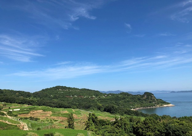棚田と海:豊島07