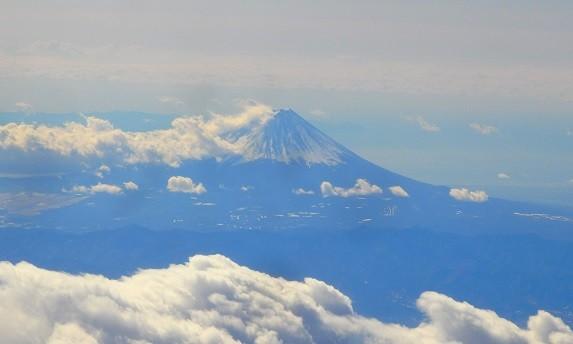 飛行機からの富士山 2018-02-08