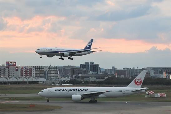 ANA & JAL 福岡空港