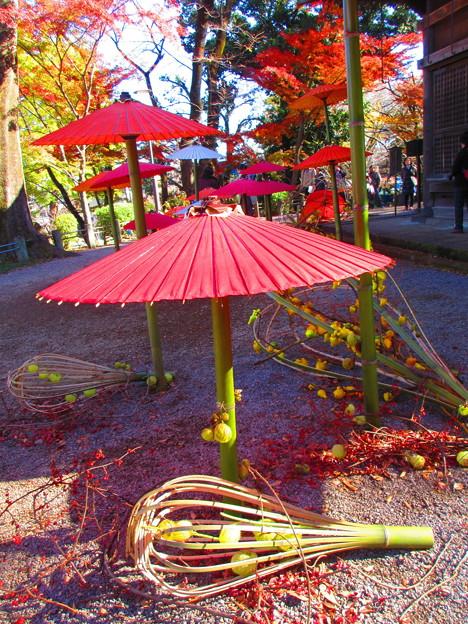 和傘と竹細工