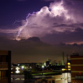 写真: 雲と稲妻