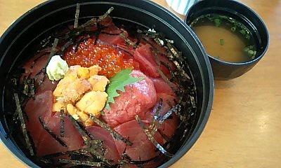 三色丼@豊魚