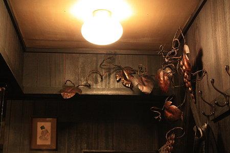 葡萄の壁飾り@ミルクホール