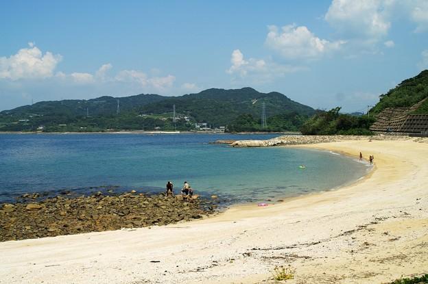 離島唯一の砂浜