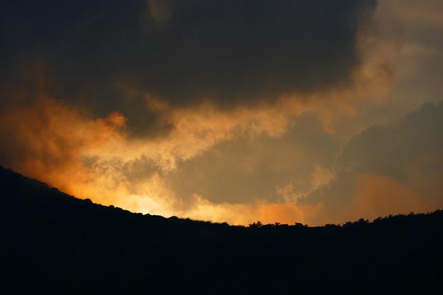 夕陽の名残