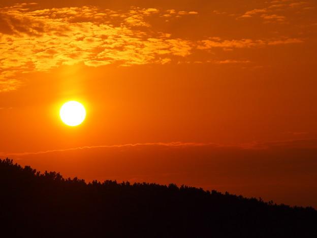 海岸からの夕陽