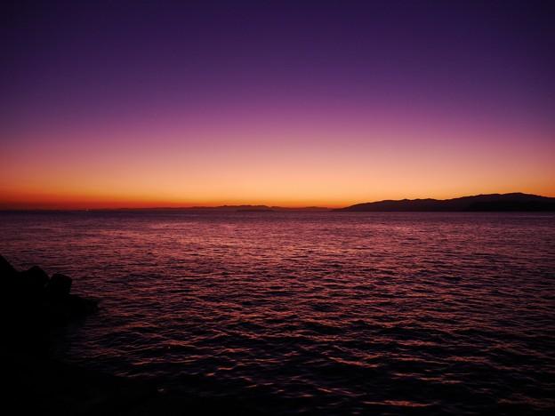 加太の夕焼け