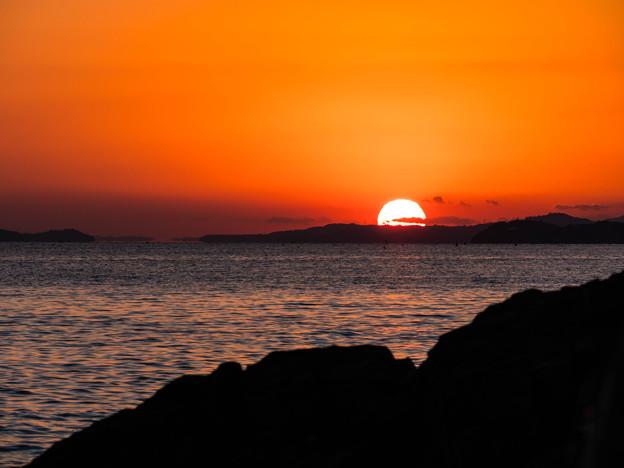 赤穂御崎からの夕日