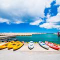 写真: 伊良部島 漁港にて