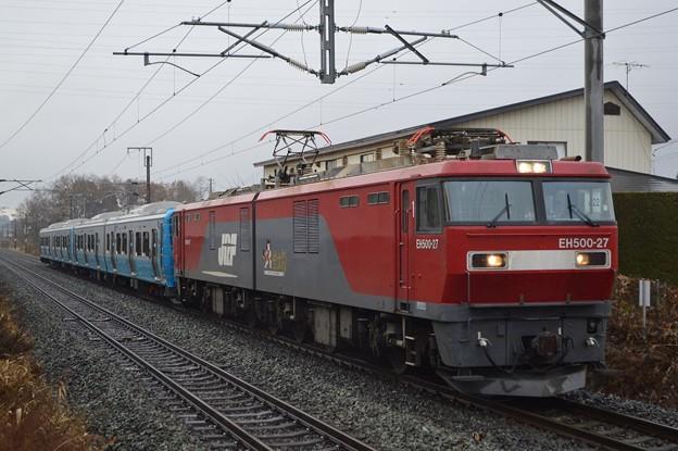 青い森鉄道703系甲種輸送-東北本線