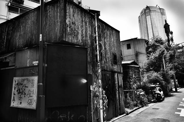 Photos: ヒルズの見える路地