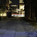 写真: 光跡「夜の川越」