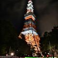 写真: タワー&光跡