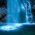 滝つぼ「払沢の滝】