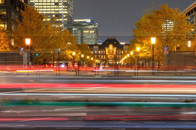 Photos: 光跡・銀杏・東京駅