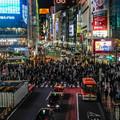3月3日渋谷スクランブル交差点