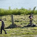 Photos: 岸辺のサックス吹き