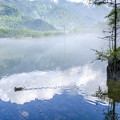 再現像「朝の大正池」