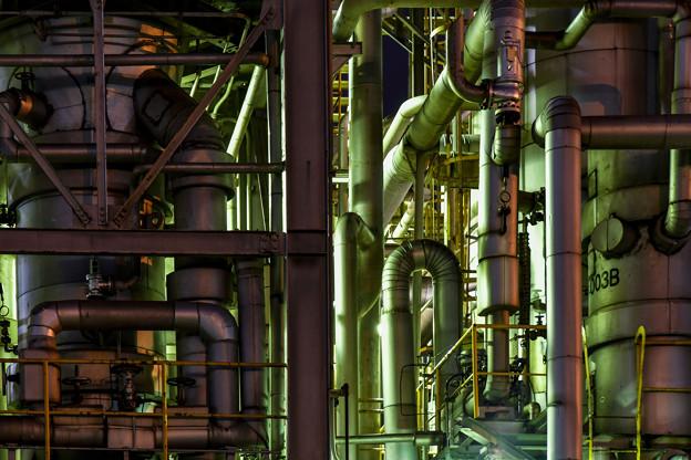 工場夜景 (2)