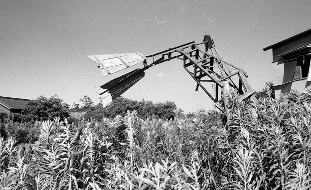 昭和45年 灌漑用風車の残骸