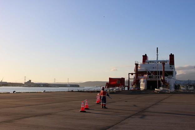 宮蘭航路就航、第一便(室蘭港にて) (5)
