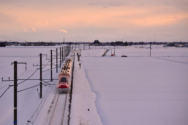 写真: 冬空から差し込む光2