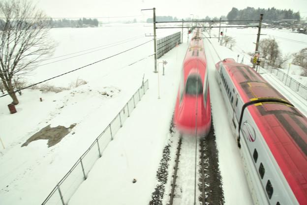 雪の車両交換
