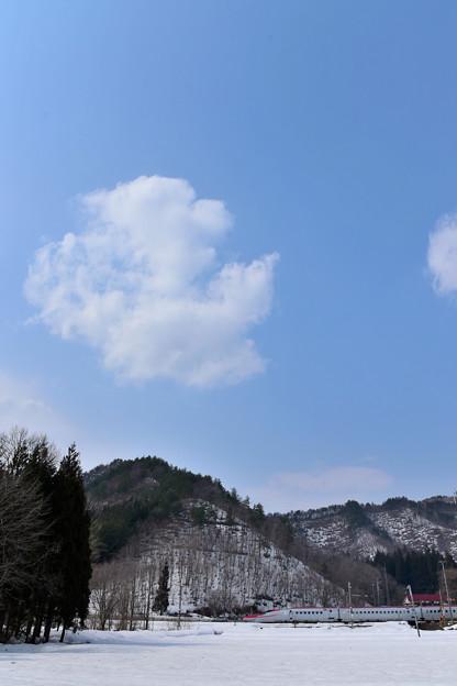 雲ぽっかり