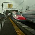 写真: 雨の無人駅2