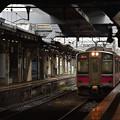 写真: 冷たい雨の秋田駅3